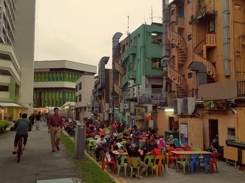 Marhaba Restaurant back alley.Singapore Local Ramadhan