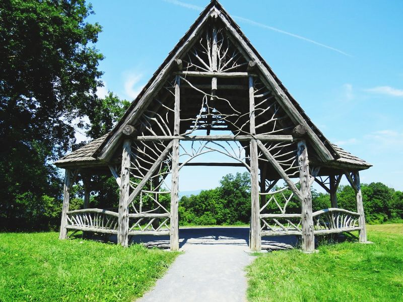 Architecture Built Structure Outdoors Sky No People Wood Structure Breathing Space EyeEmNewHere Investing In Quality Of Life Gazebo Tranquility Poetswalk