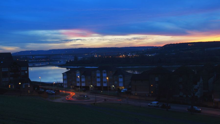 Rochester, Medway. Slow shutter with a beautiful sunset! Check This Out Taking Photos Light Painting Sunset Kent Scenic Tones Drama Lomography Atmosphere Dramatic Sky Sony