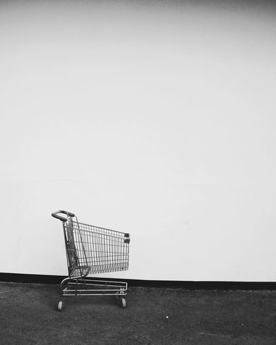 Shopping Cart Consumerism Supermarket Retail  No People Day Indoors  Close-up Streetphoto_bw Streetphotography_bw Bw City Street Minimalist Photography