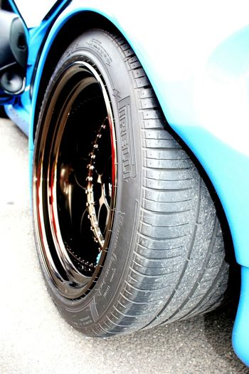 Transportation Wheels Wheel Cambered Fat Tyre Tyre CarShow Car Blue