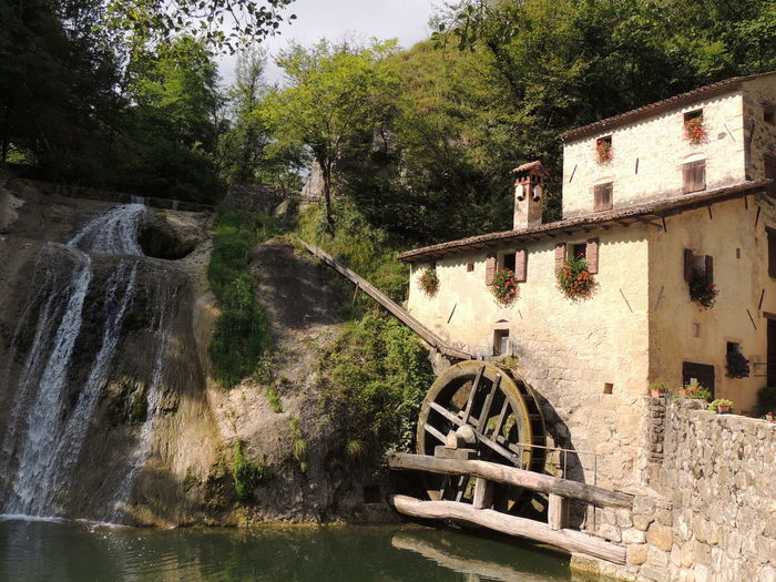 Molinetto Della Croda Architecture Beauty In Nature Day Nature No People Old-fashioned Outdoors Scenics Tree Water Water Wheel Watermill
