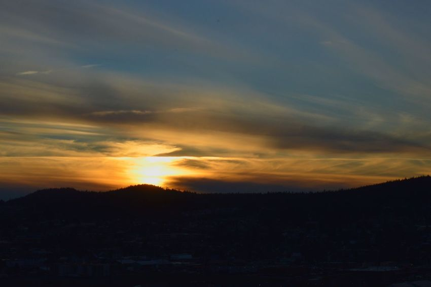 Anacortes Mountain Sunset_collection PNW No People Sunset Dramatic Sky Silhouette Scenics Sky Landscape Cloud - Sky Outdoors Beauty In Nature