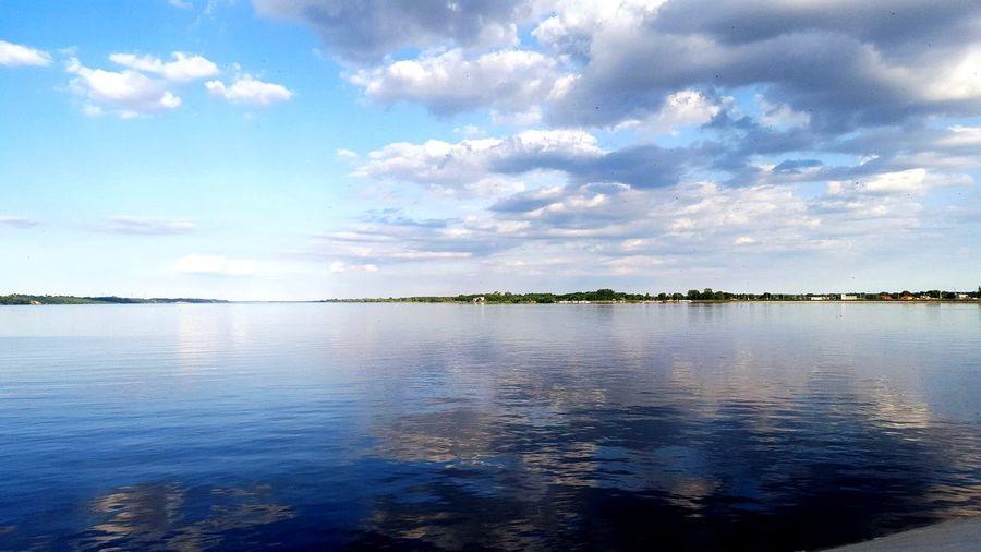 Włocławek Sky Niebo Widok Water Wisła Rzeka Tama Chmury Cloud Odbicie W Wodzie Odbicie Przystań Widoki Widoknatatry
