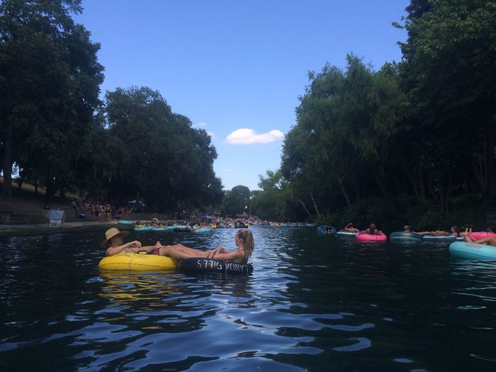 New Braunfels Soaking Up The Sun New Braunfels TX Comal River Tubing First Eyeem Photo No Filter