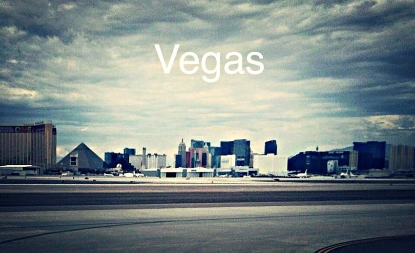 Landing at Las Vegas Airport