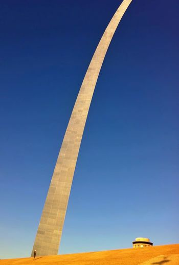 Low angle view of gateway arch against clear sky