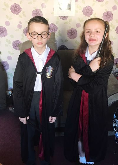 Harry Potter Not Impressed My Babies ❤  Harry Potter Themed School Day My Little Witch & Wizard ⚡️