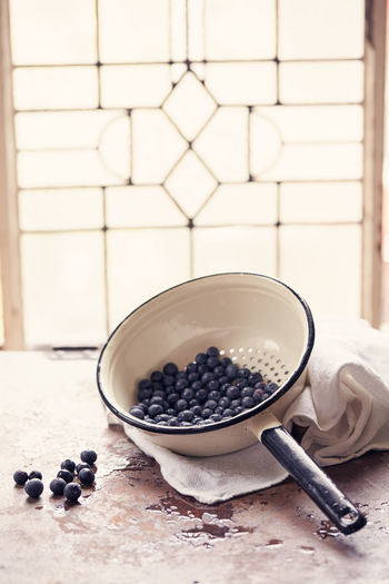 Blueberries freshly washed Blueberries Blueberry Close-up Collander Fresh Fresh Produce No People Still Life Strainer Summer Summer Food Summer Food ☀ Summer Fruits