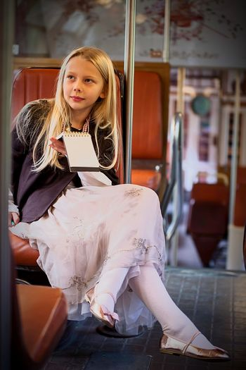 Paris RER to Versal Model Little Long Blond Hair Beuty Palace Versallespalace Versalles Metro Station Underground Faschion Trendy Lifestyle Parisian Chic Long Epoque Pink Skirt Notebook Nice View RER Sitting One Person Blond Hair Real People Casual Clothing Public Transportation Long Hair Transportation Girls Young Adult Vehicle Seat Day Indoors  Young Women People