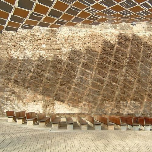 Pattern Pieces Shade Partial Shade Auditorium Canopy Sails Palma De Mallorca Seating Bench Diamonds
