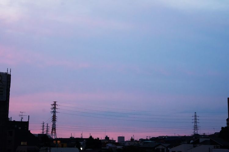Landscape Clouds And Sky Silhouettes Sunset And Clouds  Electric Tower  Sky Sunset