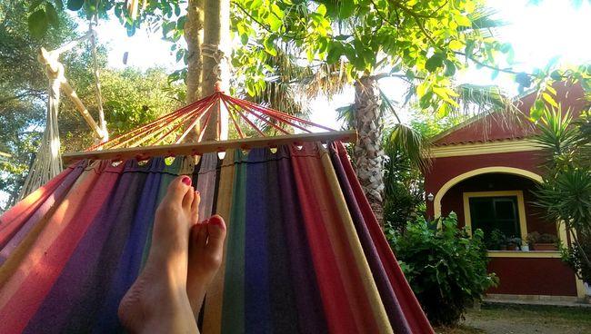Relaxing Hammocking Greek Life Silvia In Corfù Summer Views