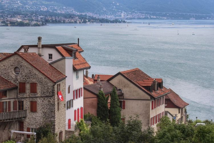 Building Exterior Architecture Cityscape Built Structure City Sea History House No People Outdoors Switzerland Lausanne Town