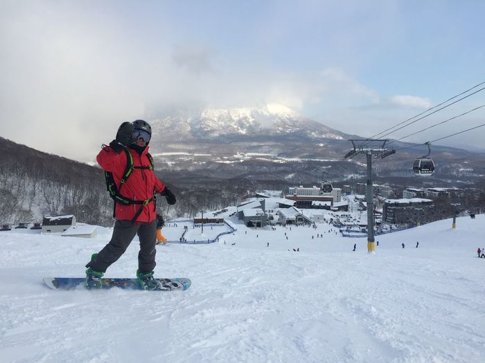 Snow Winter Cold Temperature Mountain Outdoors Nature Travelling Snowboarding Japan Photography Japan Snow ❄ Snowing Snowcapped Mountain Snow Sports IPhone Photography