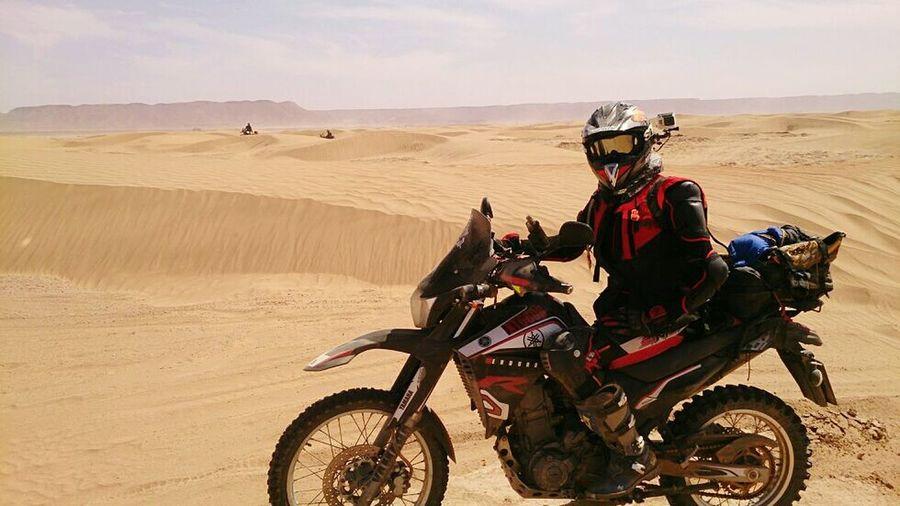 Myself MoroccoTrip Motorbike Dunas