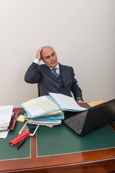 Adult Bald Bald Head Bald Man Baldeneysee Baldhead Balding Baldness Book Business Day Desk Indoors  Laptop Looking At Camera Men Occupation Office One Person People Portrait Real People Sitting Table Technology Using Laptop Wireless Technology Working