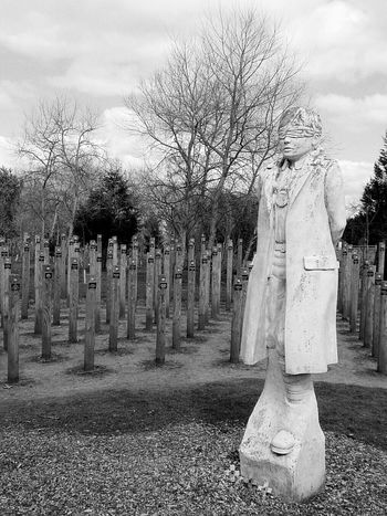 Shot At Dawn Ww1 National Arboretum Statue War Memorial Monochrome Black & White Ww1 Memorial