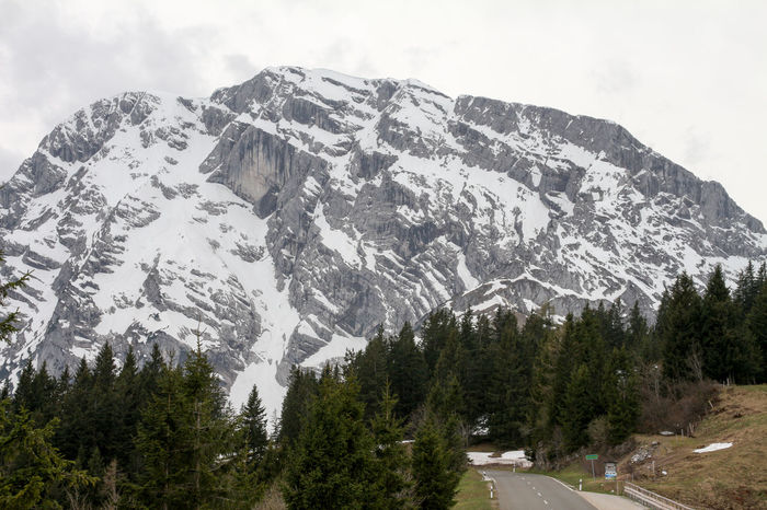 Adventure Beauty In Nature Berchtesgadener Land  Cloudy Cold Temperature Day Germany High Landscape Mountain Nature No People Outdoors Range Rossfeldpanoramastraße Scenics Sky Snow Snowcapped Mountain Spring Street Tranquil Scene Tranquility Tree Winter