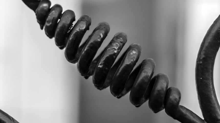 Close-up of metal chain