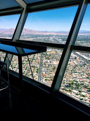 Window Cityscape Stratosphere Way Up