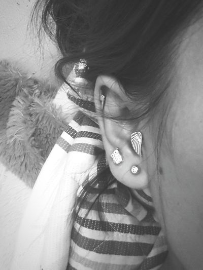 New me today Tattoo Percieng Earings Boho Style Things With Wings  That's Me Black & White Owl Art