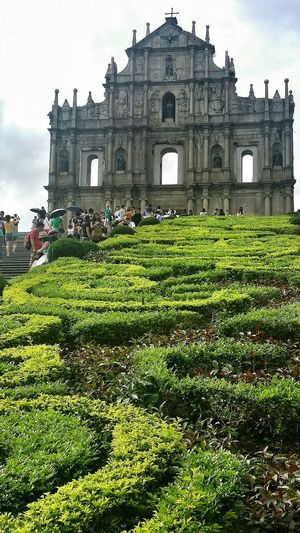 Ruins Of St.Paul's Landmark Macau UNESCO World Heritage Site 68 Steps Hill Jesuits Catholic Portugese Church Mater Dei