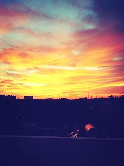 Sunset No People Cloud - Sky Sky Nature First Pic Eyem Best Edits Skycollection Through My Eyes Through The Windows Of My Mind First Thing I See Col Awesome_captures Awesomeness Amazing View Amazing Sunset Bestmoment Colored Background Color Palette Colorsplash Hues Of Sky Panoramic Views Eyembestshots Through My Lens Beauty In Nature Horizon Urban Skyline Landscape Tranquility Peace And Quiet Peaceful View