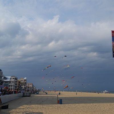 Kites flying, storm clouds rolling in.... Oceancitycool OceanCity Maryland Ocmd ocmdphotography everythingoc earthpix