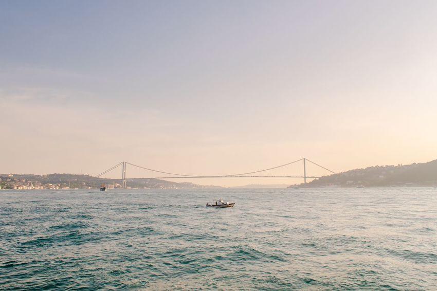 Bridge - Man Made Structure Bosphorus Bridge Istanbul Turkey Turkey Sea Water Sunset Tourism Outdoors Bridge Travel Travel Destinations Connection Vacation