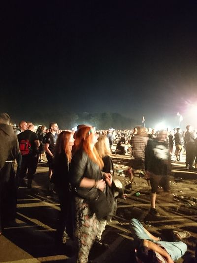 Woodstock 2016 Popular Music Concert Large Group Of People Light And Shadow Celebration Music