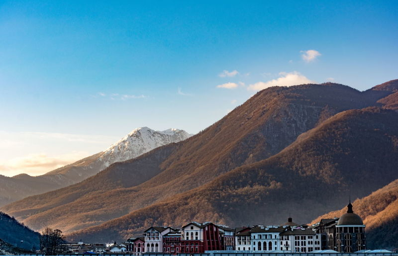 Sochi Rosa Hutor Mountains And Sky Mountain View Sky And Clouds