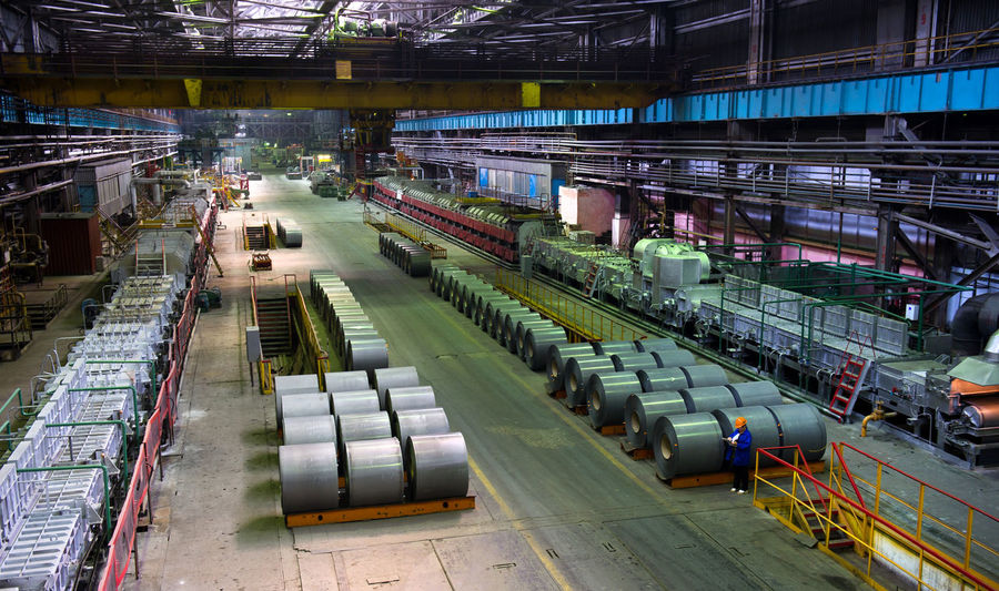 Russia, Yekaterinburg, Upper Iset plant, manufacture of steel sheet Abundance City City Life Day Diminishing Perspective Lifestyles Mode Of Transport Public Transportation Railroad Track Russia, Yekaterinburg, Upper Iset Plant, Manufacture Of Steel Sheet The Way Forward