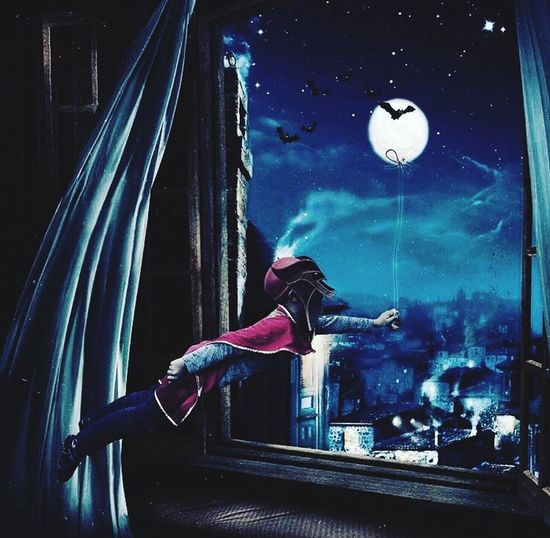 Fly me to the moon ✨ Moon Superhero Kids Photoshop Art Real People Night One Person Lifestyles Arts Culture And Entertainment Full Length Indoors