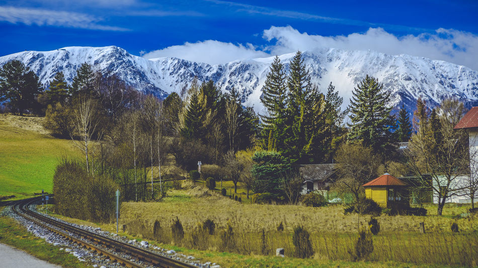 Schneeberg, Austria Schneelandschaft Architecture Beauty In Nature Built Structure Cloud - Sky Day Environment Field Growth Land Landscape Mountain Nature No People Outdoors Plant Scenics - Nature Sky Snowcapped Mountain Tranquil Scene Tranquility Transportation Tree Zahnradbahn