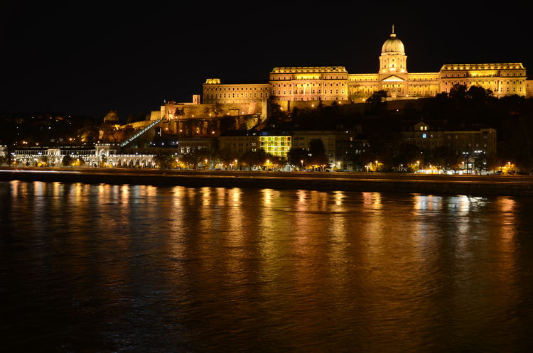 Architecture Budapest Castle Capital Cities  Cityscapes Danube Danube River Famous Place History Night River Tourism Várkert Water Waterfront Hungary Cityscape