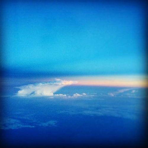 Ocean Caribbean Sun Blue Clouds Sunset