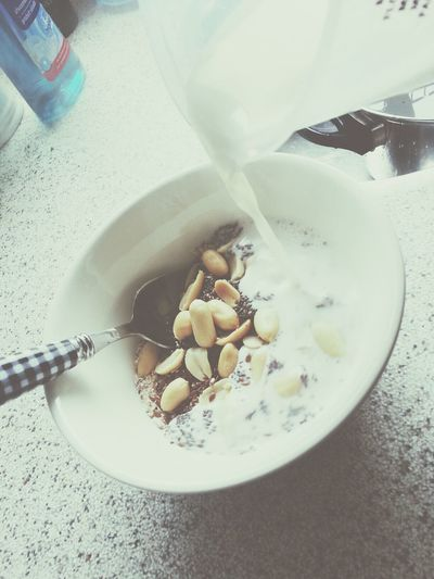 morning routine, oatmeal with Chia Seeds Flax Seeds soy or lactose free milk ( i am actually lactose intolerant ) and not to forget the unsalted peanuts Clean Eating and eating Healthy will surely reward you in the end.
