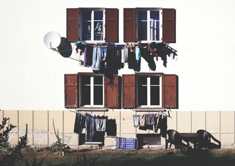 laundry day Apartment Architecture Autumn Building Exterior Built Structure City Life City Life Clothes Clothesline Clothing Everyday Life Everyday Lives Geometry Hanging Laundry Outdoors TakeoverContrast Urban Geometry Urban Landscape Washing Window