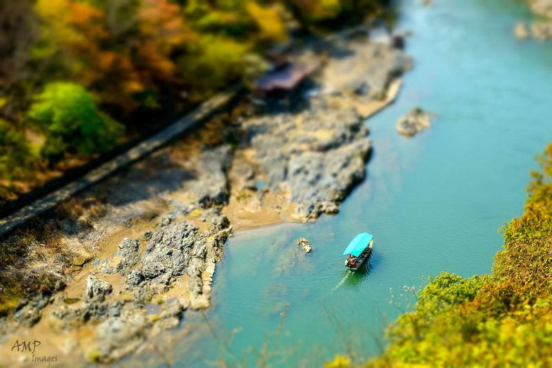 Hd Wallpaper Tiltshift boat River