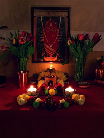 For one who's receptive , she's the brightest light and truest love Yantra Yoga Peak Ultimate Feminine Ultimate Nature Mother She Is The Only One  Mother Of God Goddess Devi Linga Bhairavi Indoors  Flame Candle Celebration Christmas Table Burning
