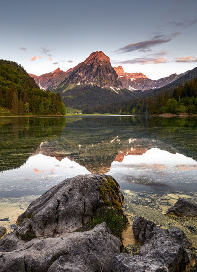 Obersee Beauty In Nature Cloud - Sky Day Formation Glarus Idyllic Lake Mountain Mountain Peak Mountain Range Nature No People Non-urban Scene Outdoors Reflection Rock Rock - Object Scenics - Nature Sky Solid Tranquil Scene Tranquility Water