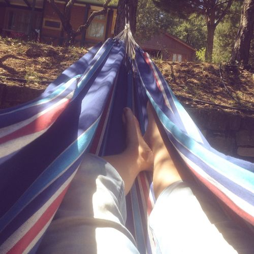 Sunlight Day Human Leg Low Section Outdoors One Person Close-up People Hammock Zen Chill Yoga Vacation Relaxing Grass Sun