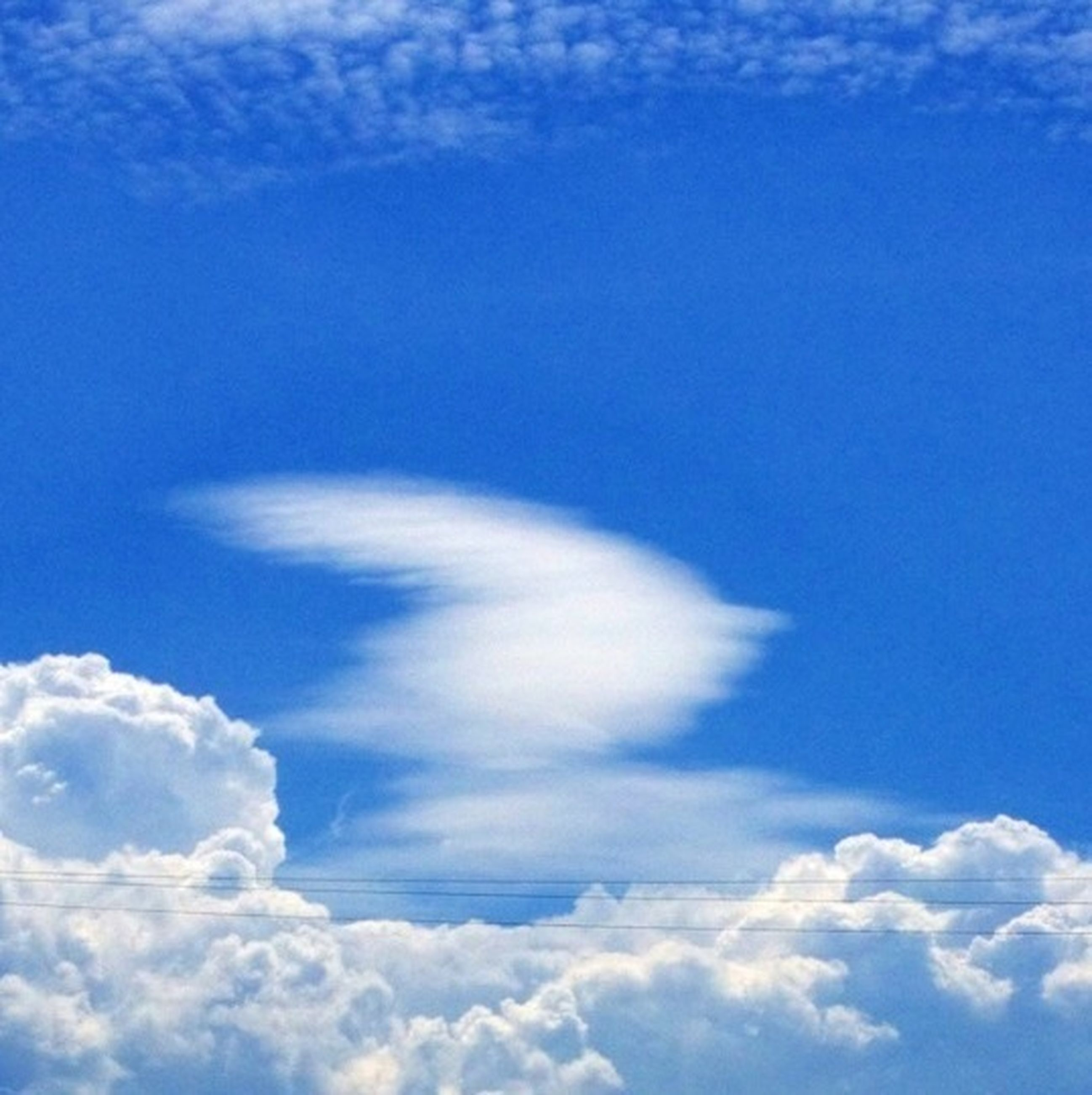 sky, blue, low angle view, cloud - sky, beauty in nature, sky only, tranquility, scenics, cloudscape, cloud, nature, tranquil scene, cloudy, white color, idyllic, fluffy, day, backgrounds, outdoors, white