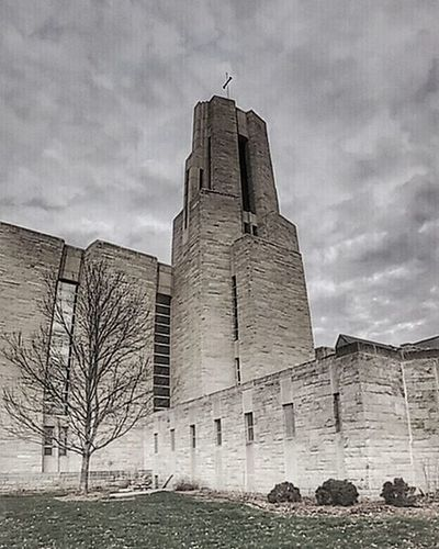 The Abbey at Benedictine college in Atchison Kansas... Ks_pride Atchison Kansasphotos Kansasphotographer Benedictinemonks Benedictinecollege World_bnw Wow_america_bnw Verticalpanoramic Bnw_globe Bnw Googleplus