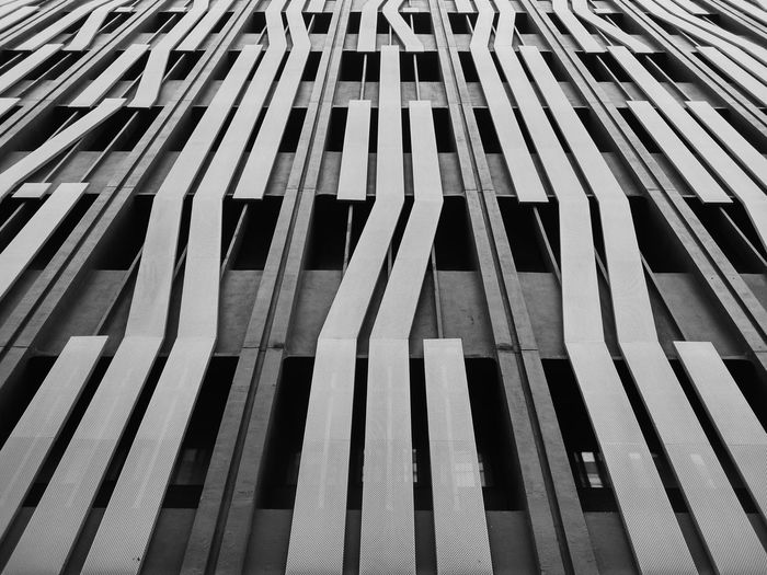 Repetition Architecture Pattern Backgrounds Full Frame Blackandwhite Eyeem Philippines