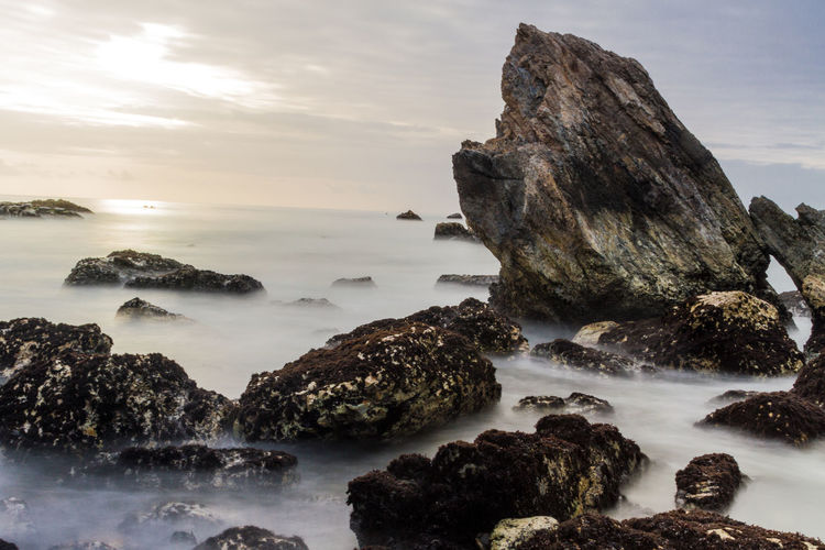 Beach Beachphotography Beauty In Nature Landscape Landscape_Collection Landscape_photography Landscapes Long Exposure Nature No People Outdoors Rock - Object Rocks Rocks And Water Scenics Sky Water