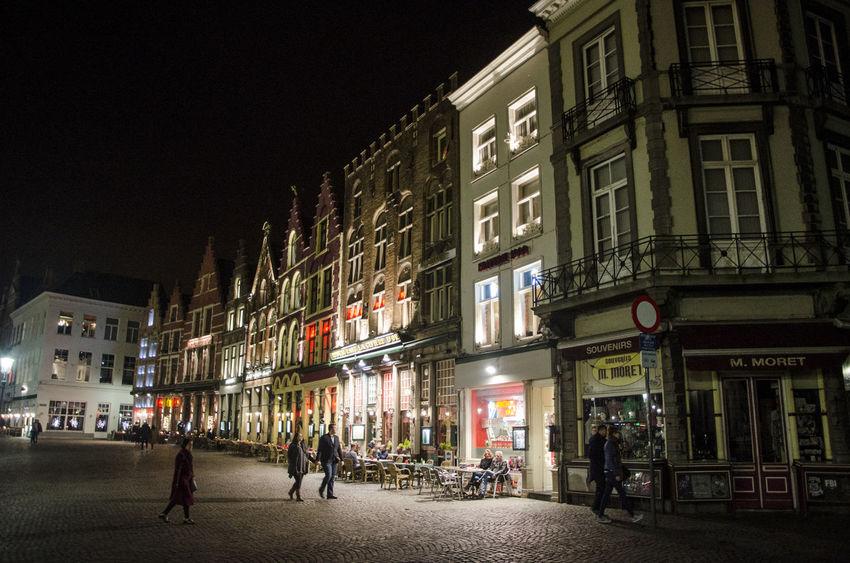 Belgium at night Architecture Belgium Building Exterior City Corner Illuminated Night People Travel Destinations