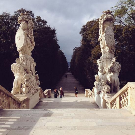 Schöenbrunn park Austria Gloriette Stairs Tourist Attraction  Vienna Architecture Art And Craft Creativity Human Representation Park Representation Schönbrunn Sculpture Staircase Statue The Past Tourism Travel Destinations Wien