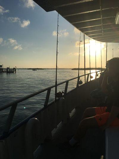 Heading offshore